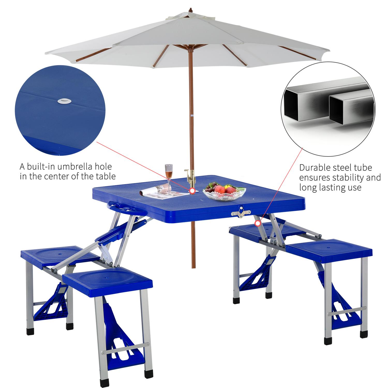 thumbnail 15 - Portable Folding Camping Picnic Table Party Outdoor Garden Chair Stools Set