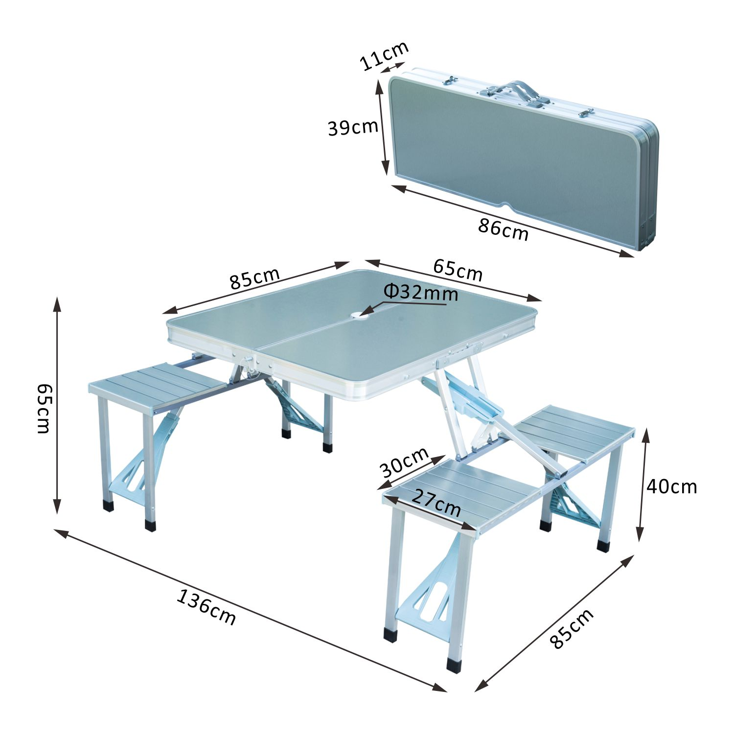 Portable-Folding-Camping-Picnic-Table-Party-Outdoor-Garden-Chair-Stools-Set thumbnail 40