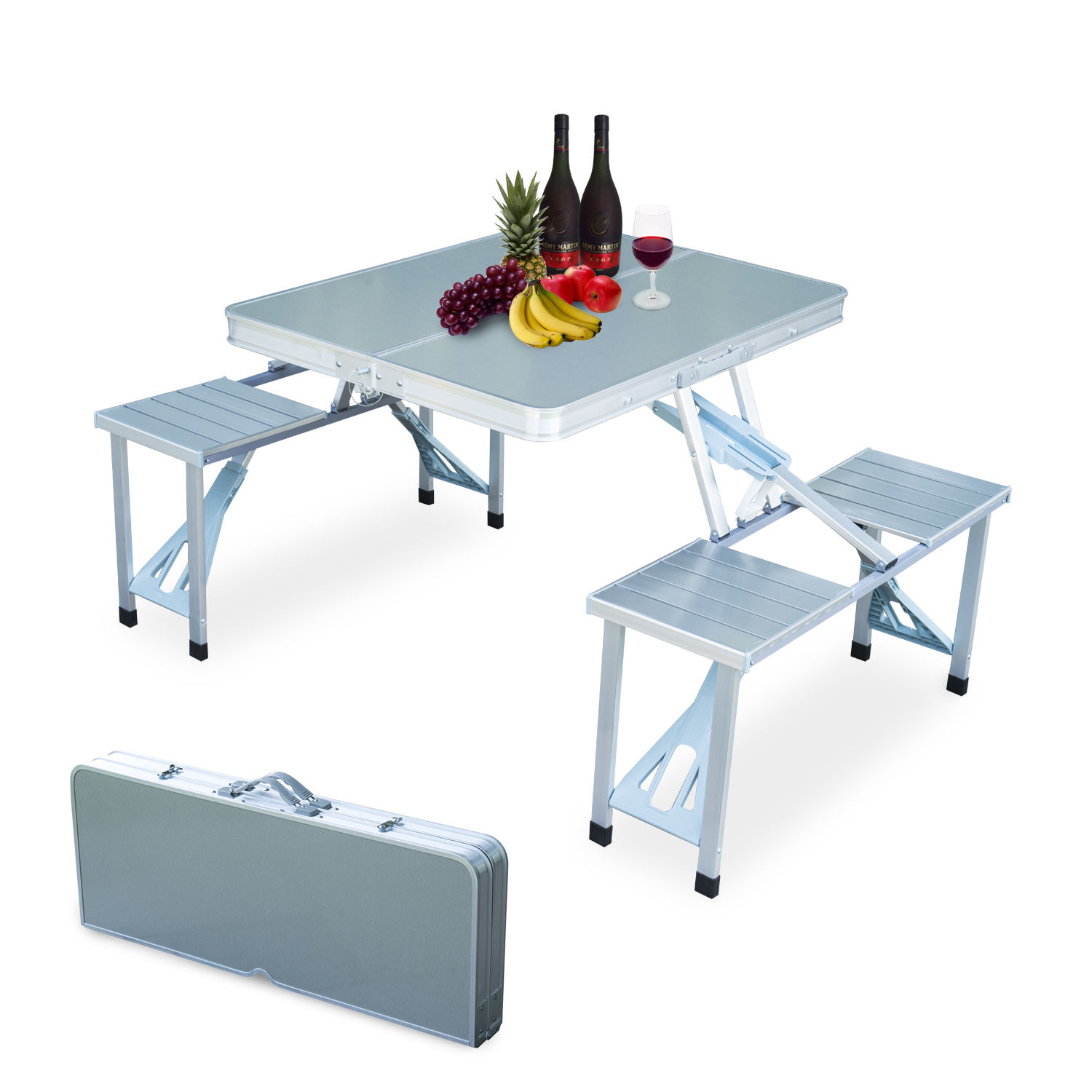 Portable-Folding-Camping-Picnic-Table-Party-Outdoor-Garden-Chair-Stools-Set thumbnail 43