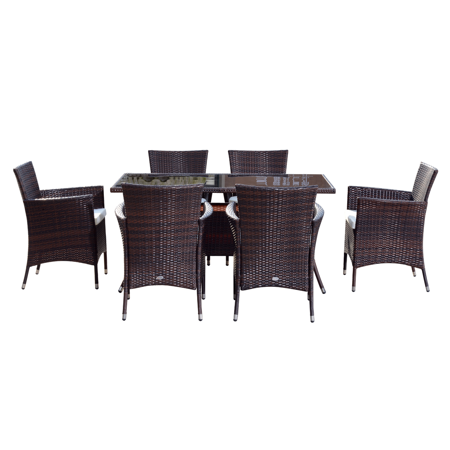6 Seater Rattan Cube Table And Chairs