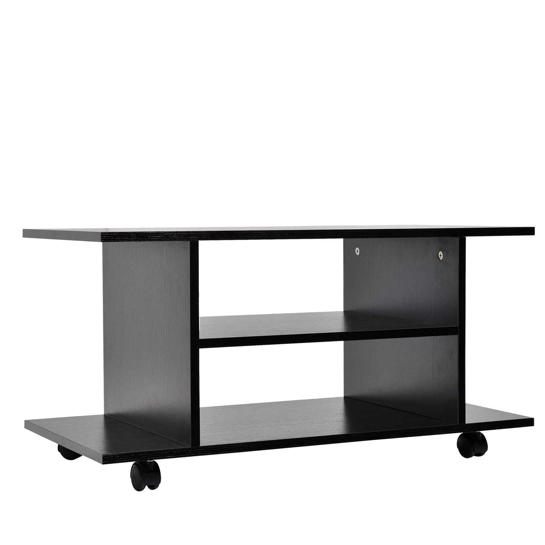 modern tv cabinet stand 3 tier shelf storage shelves table wheels ebay. Black Bedroom Furniture Sets. Home Design Ideas