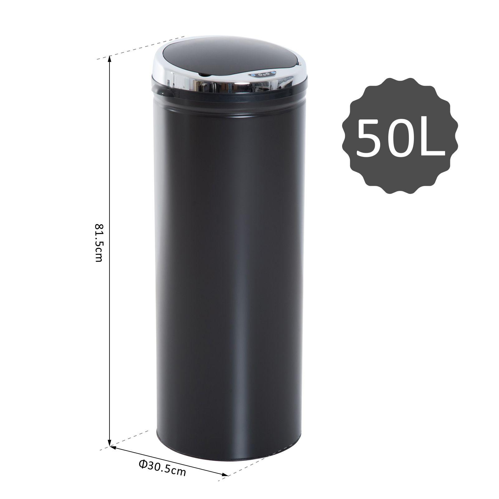 ACCIAIO-Inox-Automatico-Sensore-PATTUMIERA-IMMONDIZIA-SPAZZATURA-CUCINA-CESTINO-NUOVO miniatura 30