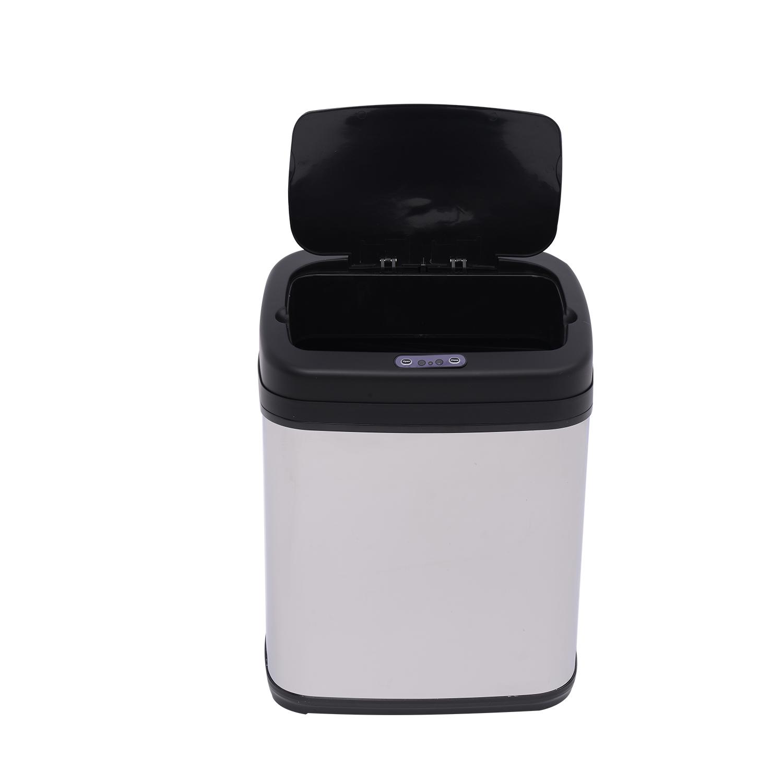 ACCIAIO-Inox-Automatico-Sensore-PATTUMIERA-IMMONDIZIA-SPAZZATURA-CUCINA-CESTINO-NUOVO miniatura 4