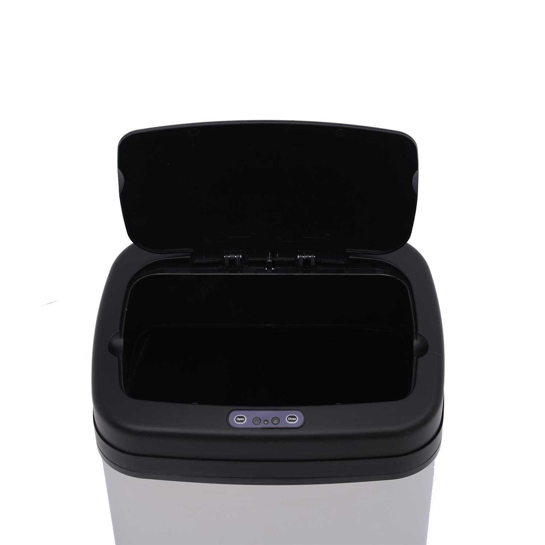 ACCIAIO-Inox-Automatico-Sensore-PATTUMIERA-IMMONDIZIA-SPAZZATURA-CUCINA-CESTINO-NUOVO miniatura 5