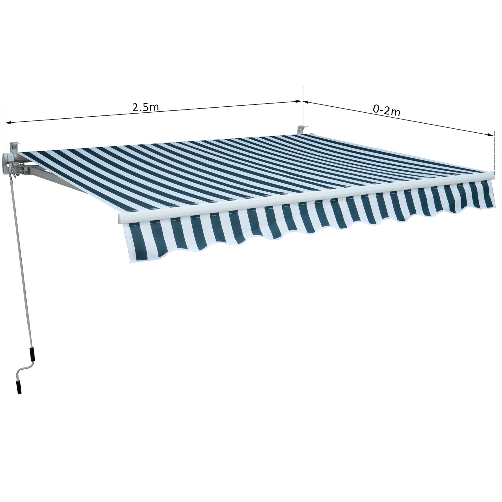 Garden-Patio-Manual-Awning-Canopy-Sun-Shade-Shelter-Retractable-4-Size-5-Colour thumbnail 21