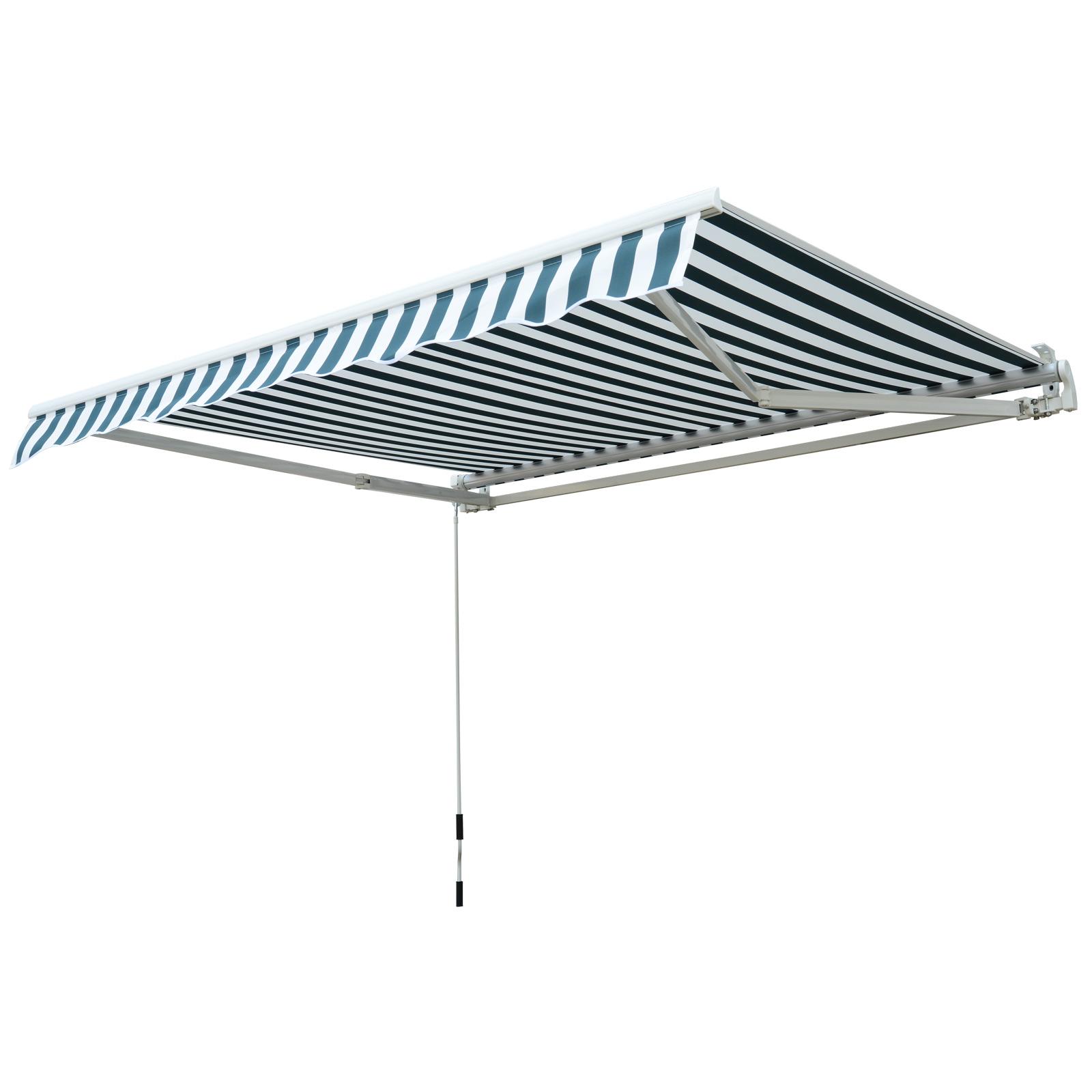 Garden-Patio-Manual-Awning-Canopy-Sun-Shade-Shelter-Retractable-4-Size-5-Colour thumbnail 24