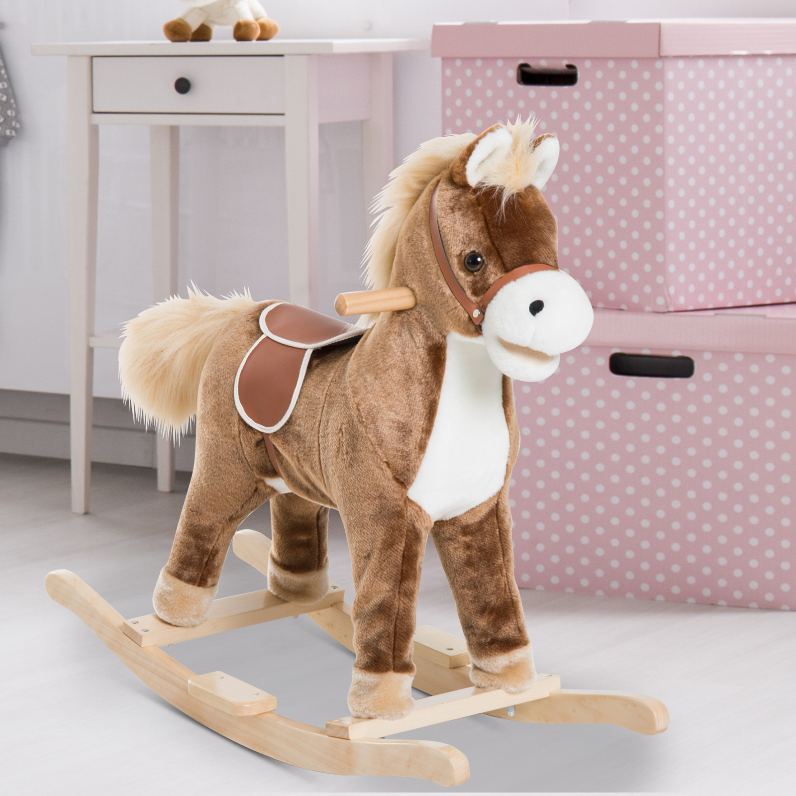 Baby Rocking Horse 6 Months Dinosaur Wooden Infant Rocker Playing Seat Green For Sale Ebay