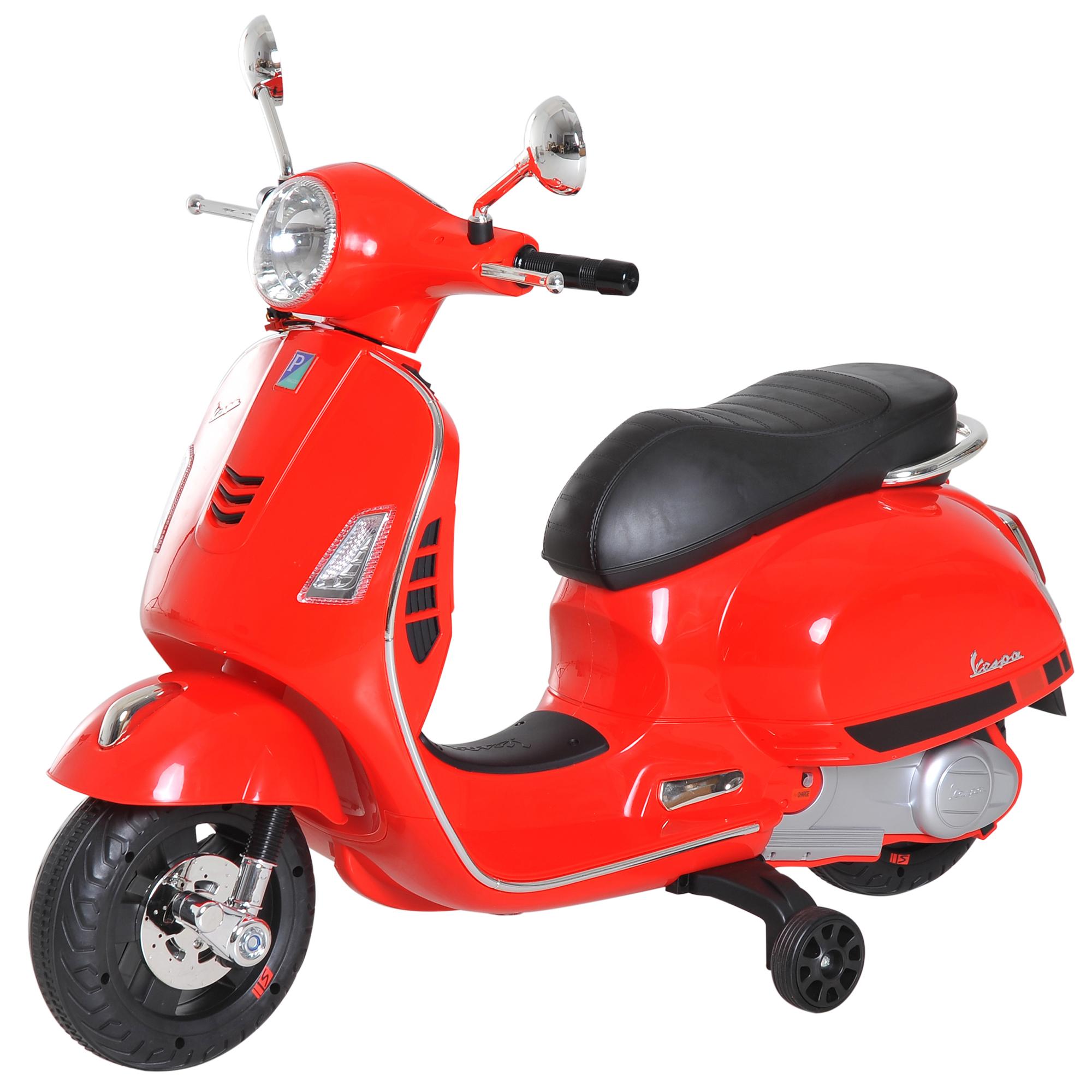 Kids Ride On Motorcycle Vespa Licensed Boys Girls 6v Music