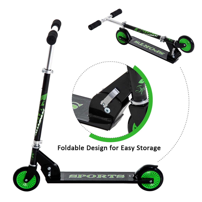 Kick-Scooter-Foldable-Wheels-Teens-Children-Commuter-Stunt-2-Colours thumbnail 4