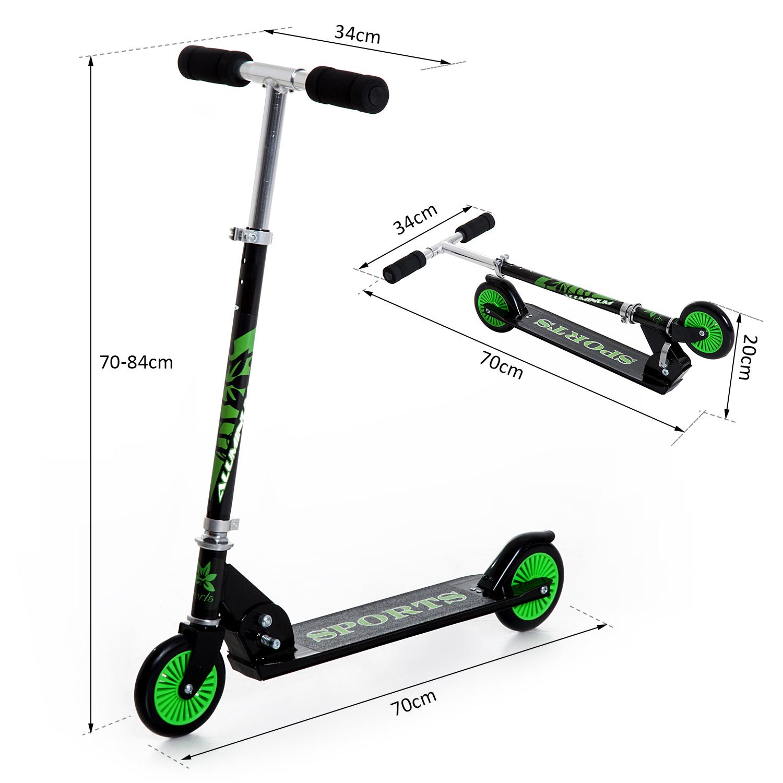 Kick-Scooter-Foldable-Wheels-Teens-Children-Commuter-Stunt-2-Colours thumbnail 3