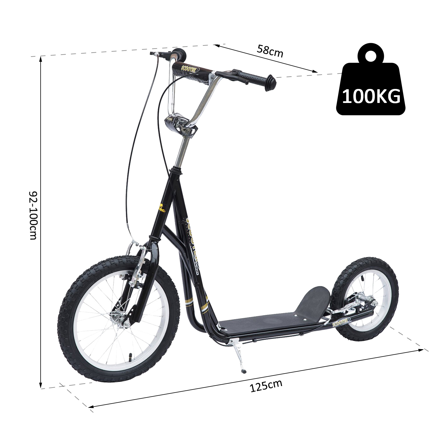 Adult-Teen-Push-Stunt-Kick-Scooter-Kids-Children-Bike-Bicycle-Ride-Street-New thumbnail 3