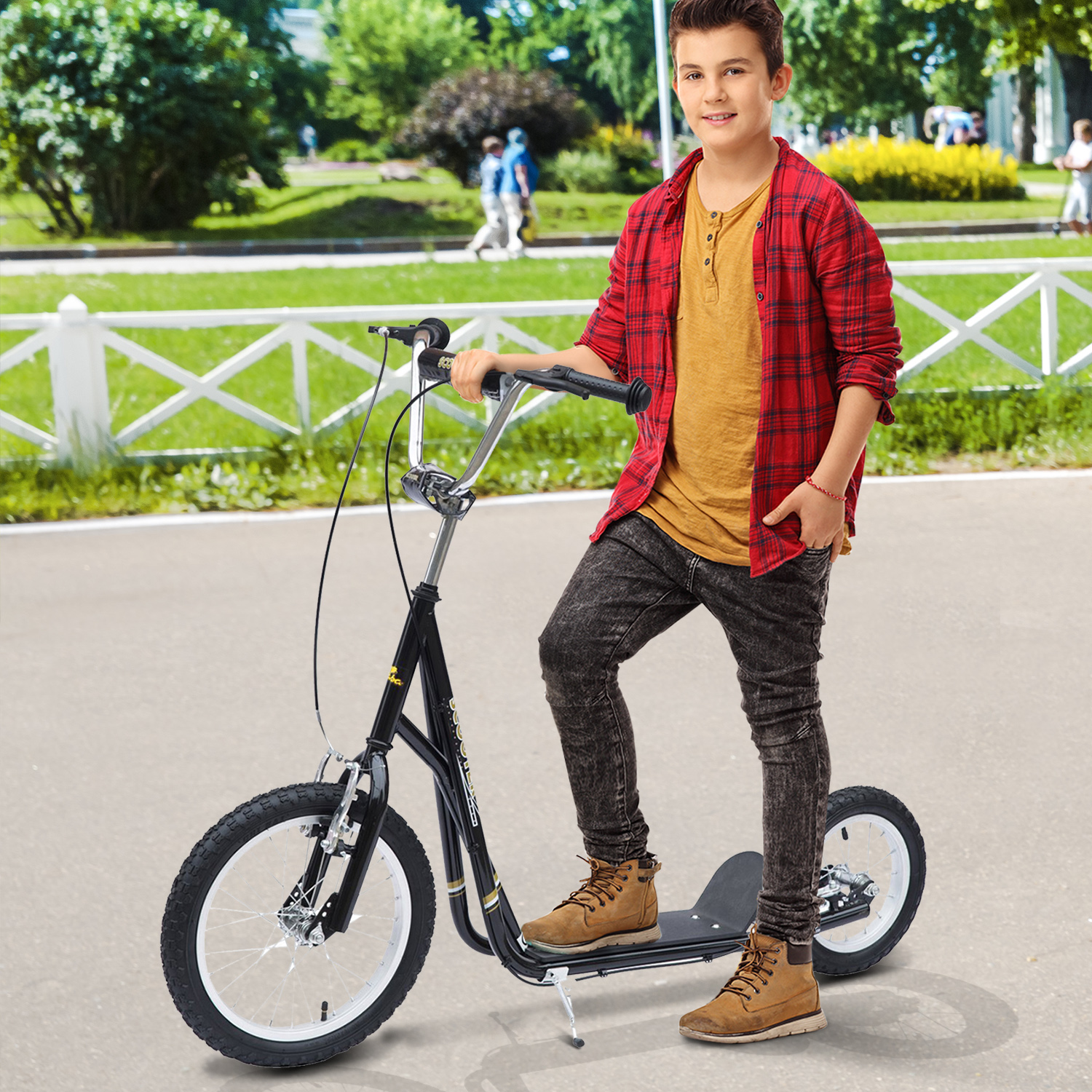 Adult-Teen-Push-Stunt-Kick-Scooter-Kids-Children-Bike-Bicycle-Ride-Street-New thumbnail 6