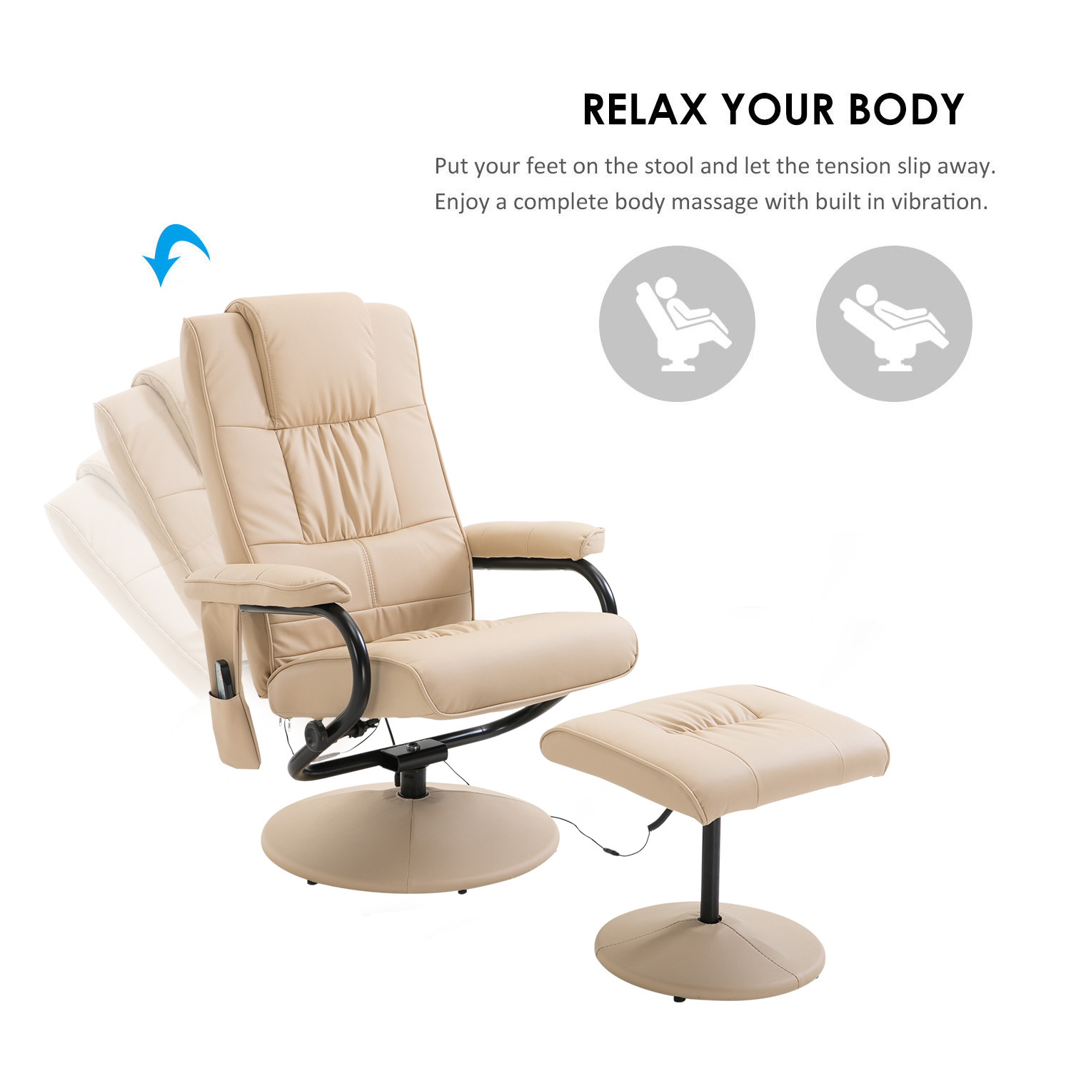 Surprising Details About Faux Leather Massage Recliner Easy Sofa Arm Chair W Foot Stool Beauty Couch Bed Ocoug Best Dining Table And Chair Ideas Images Ocougorg