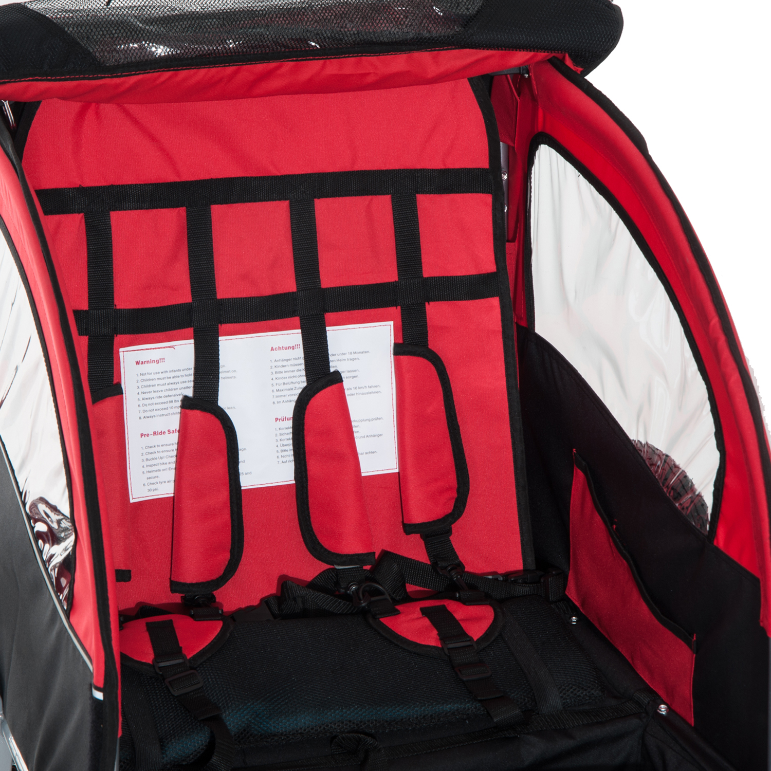 2-Seater-Child-Bike-Trailer-Kids-Carrier-Safety-Harness-Baby-Stroller-Jogger thumbnail 13
