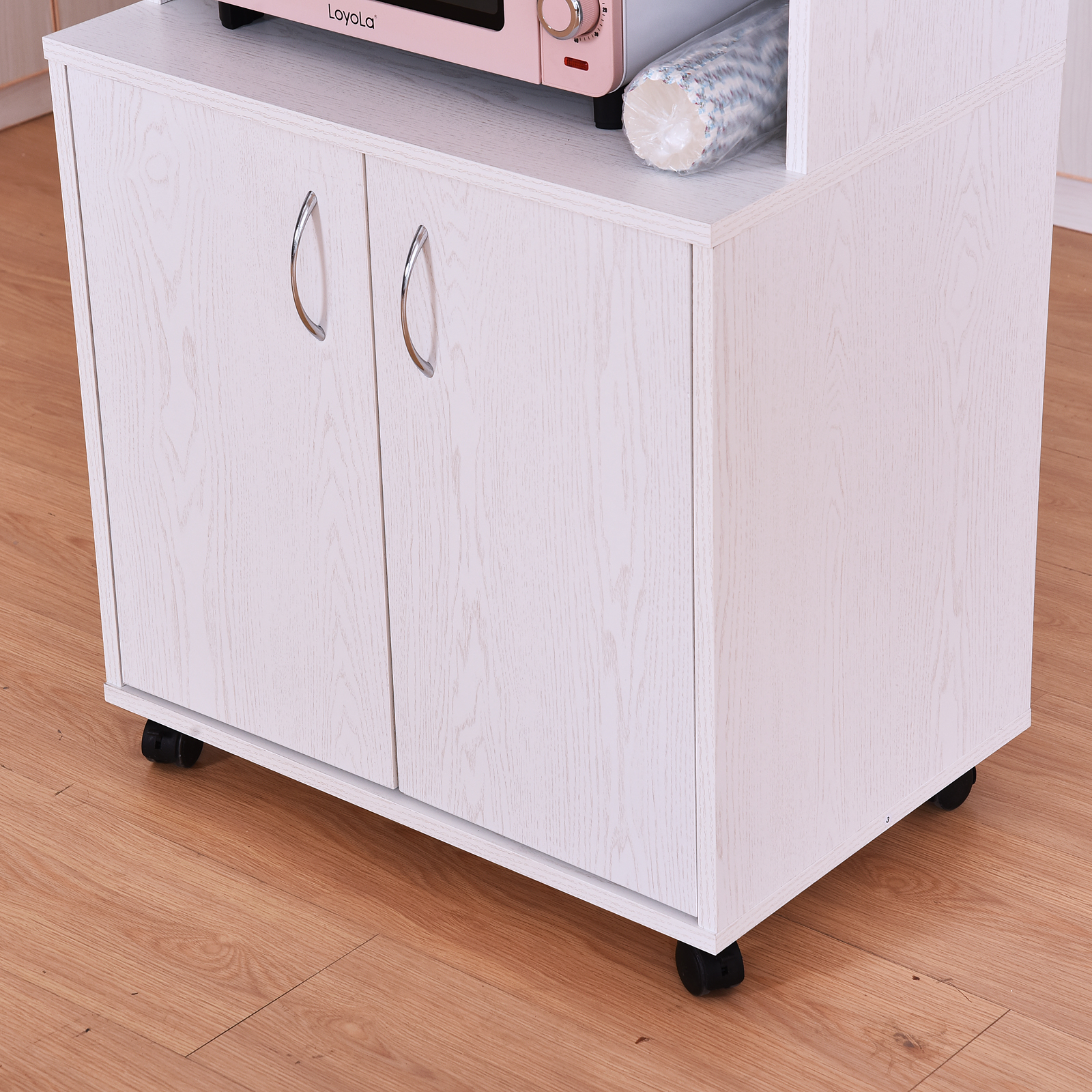 Astounding Details About Rolling Kitchen Trolley Microwave Cart 2 Door Cabinet Storage Shelves W Wheels Home Remodeling Inspirations Propsscottssportslandcom