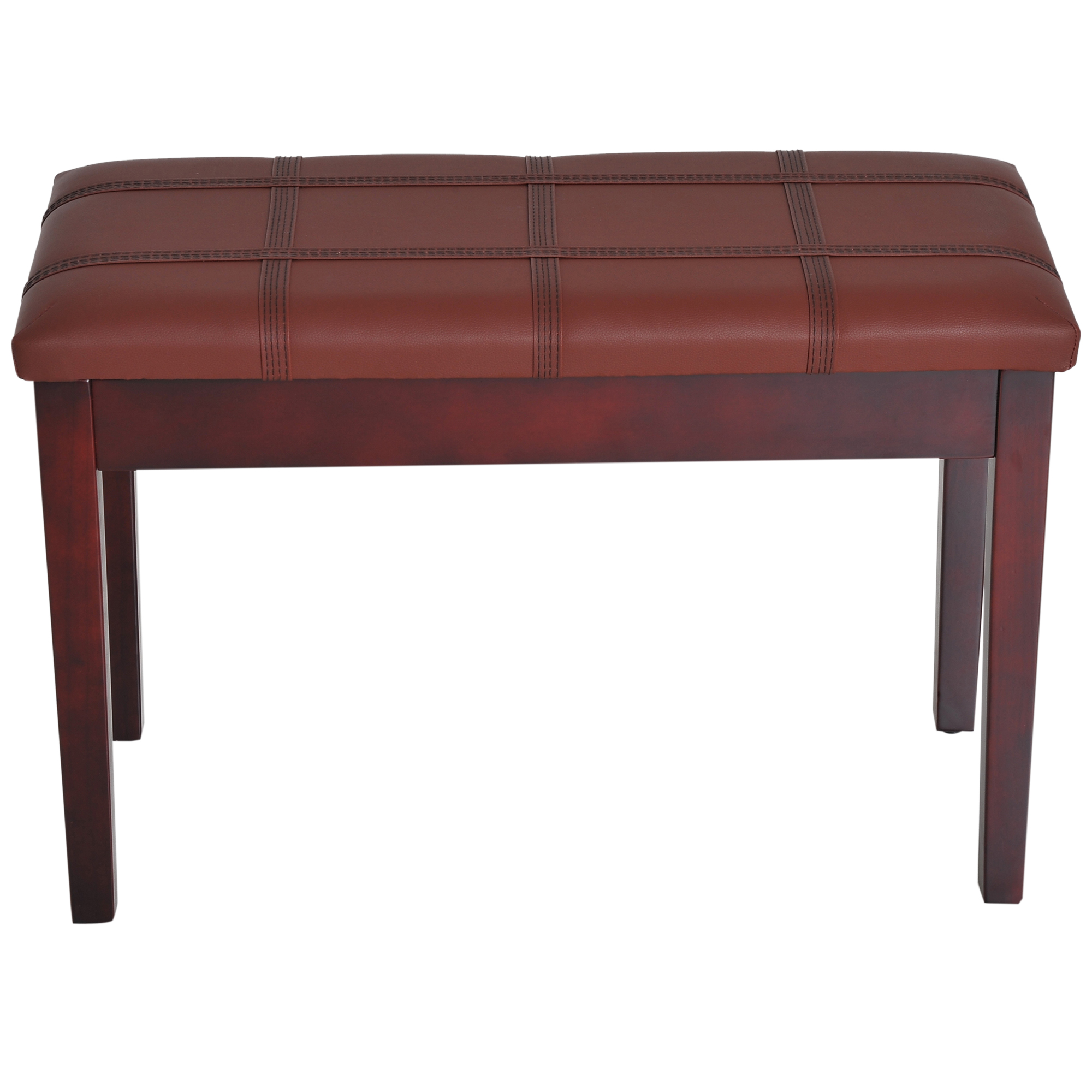 Two-Person-Lift-Top-Piano-Storage-Bench-Faux-Leather-Keyboard-Stool-Birchwood thumbnail 14