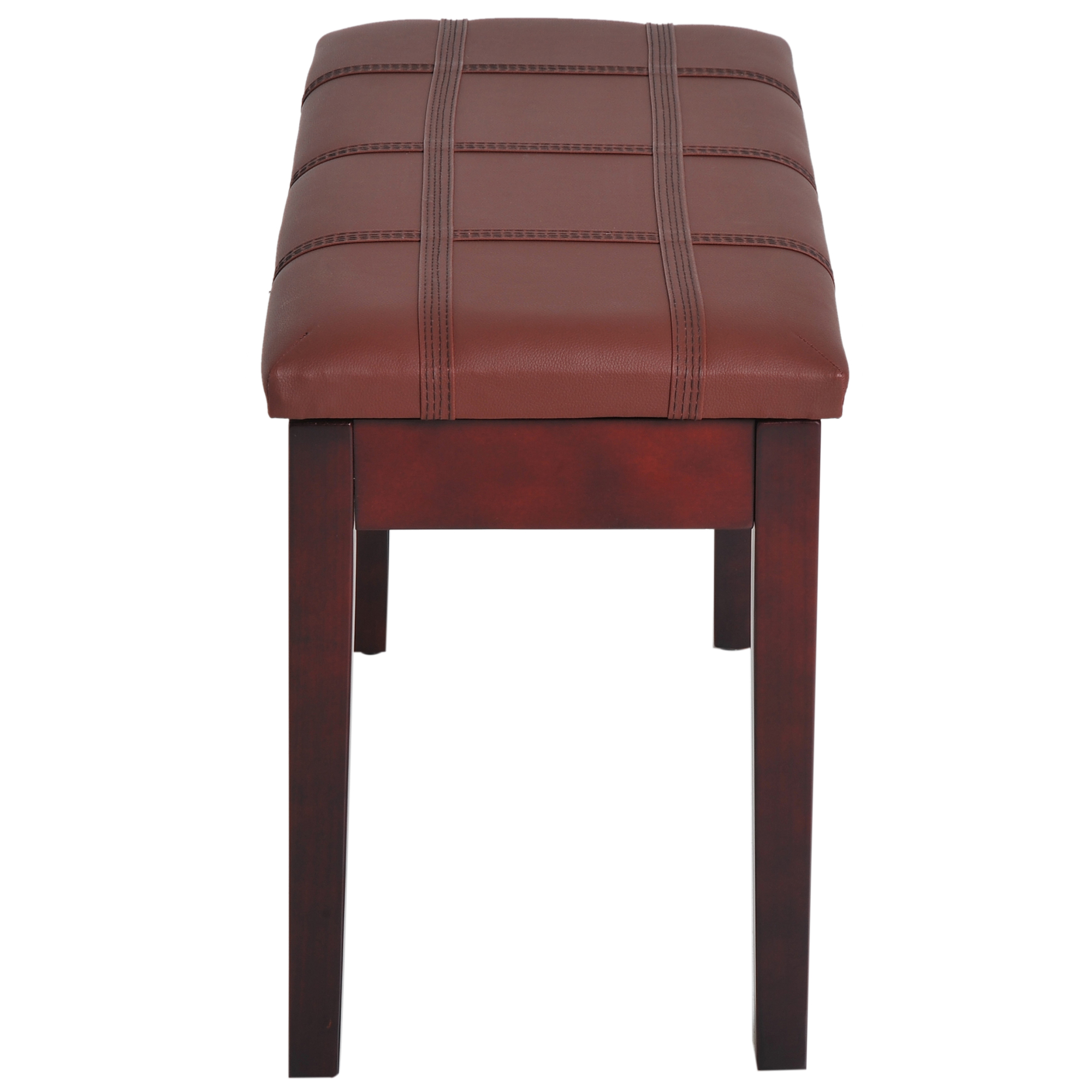 Two-Person-Lift-Top-Piano-Storage-Bench-Faux-Leather-Keyboard-Stool-Birchwood thumbnail 19