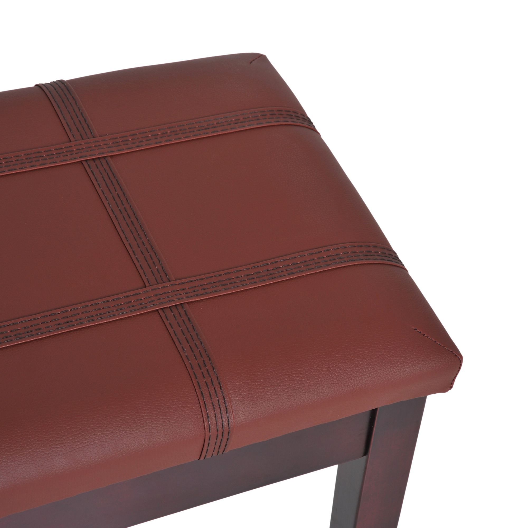 Two-Person-Lift-Top-Piano-Storage-Bench-Faux-Leather-Keyboard-Stool-Birchwood thumbnail 18