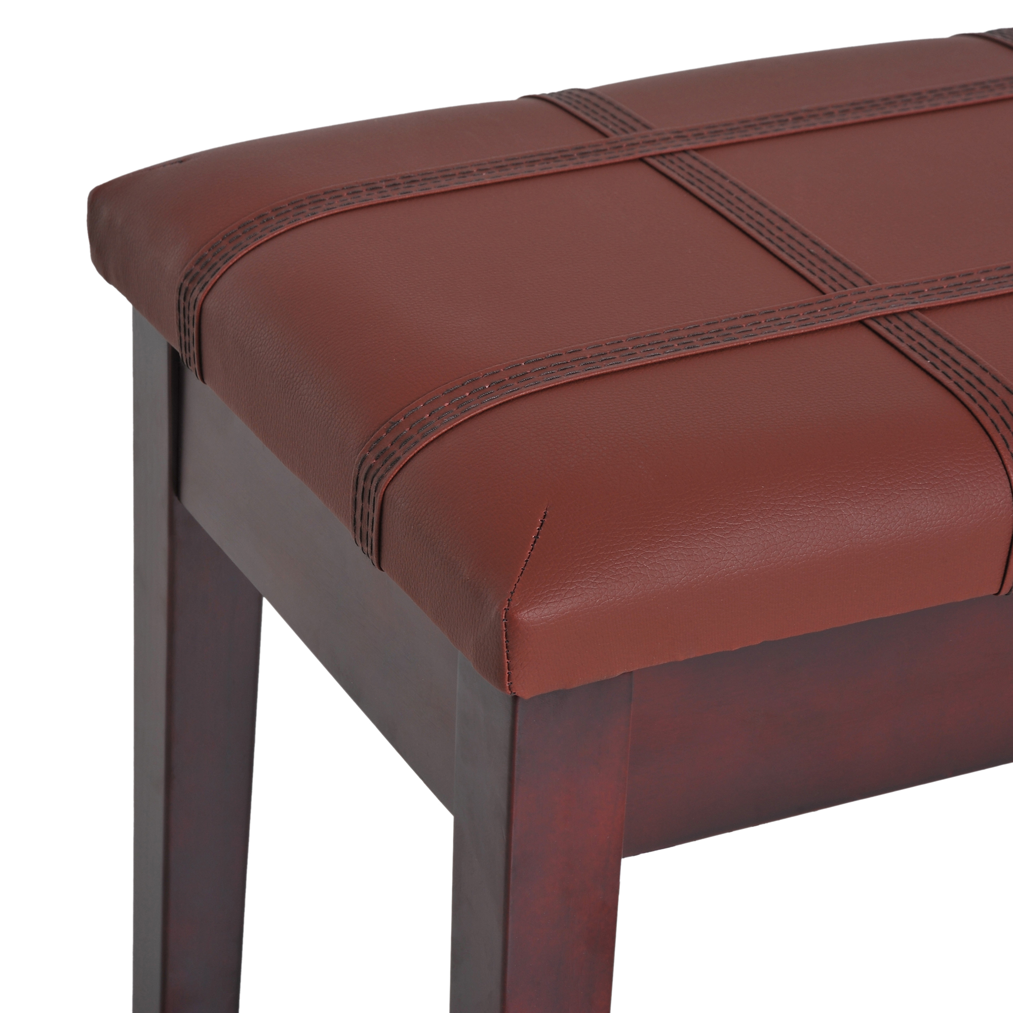 Two-Person-Lift-Top-Piano-Storage-Bench-Faux-Leather-Keyboard-Stool-Birchwood thumbnail 16