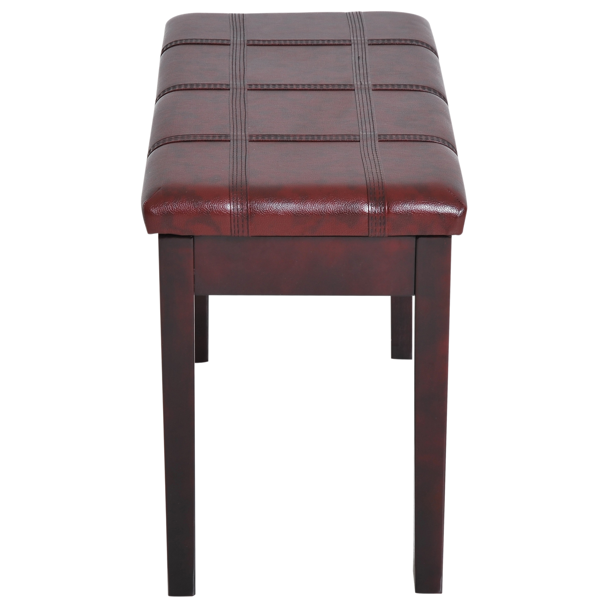 Two-Person-Lift-Top-Piano-Storage-Bench-Faux-Leather-Keyboard-Stool-Birchwood thumbnail 28