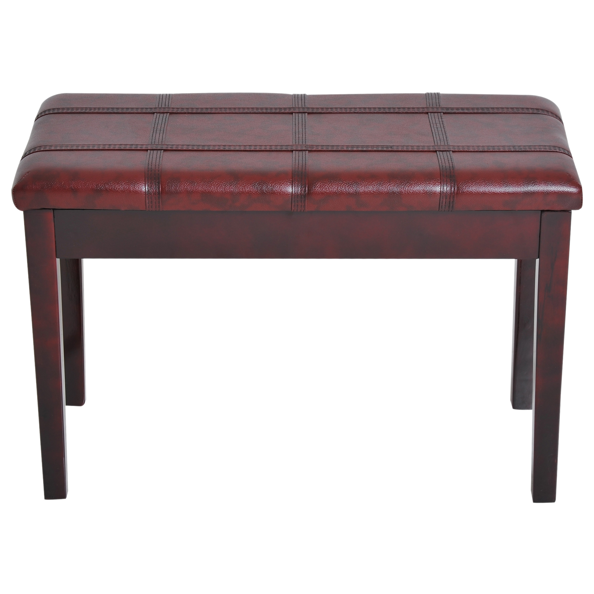 Two-Person-Lift-Top-Piano-Storage-Bench-Faux-Leather-Keyboard-Stool-Birchwood thumbnail 24