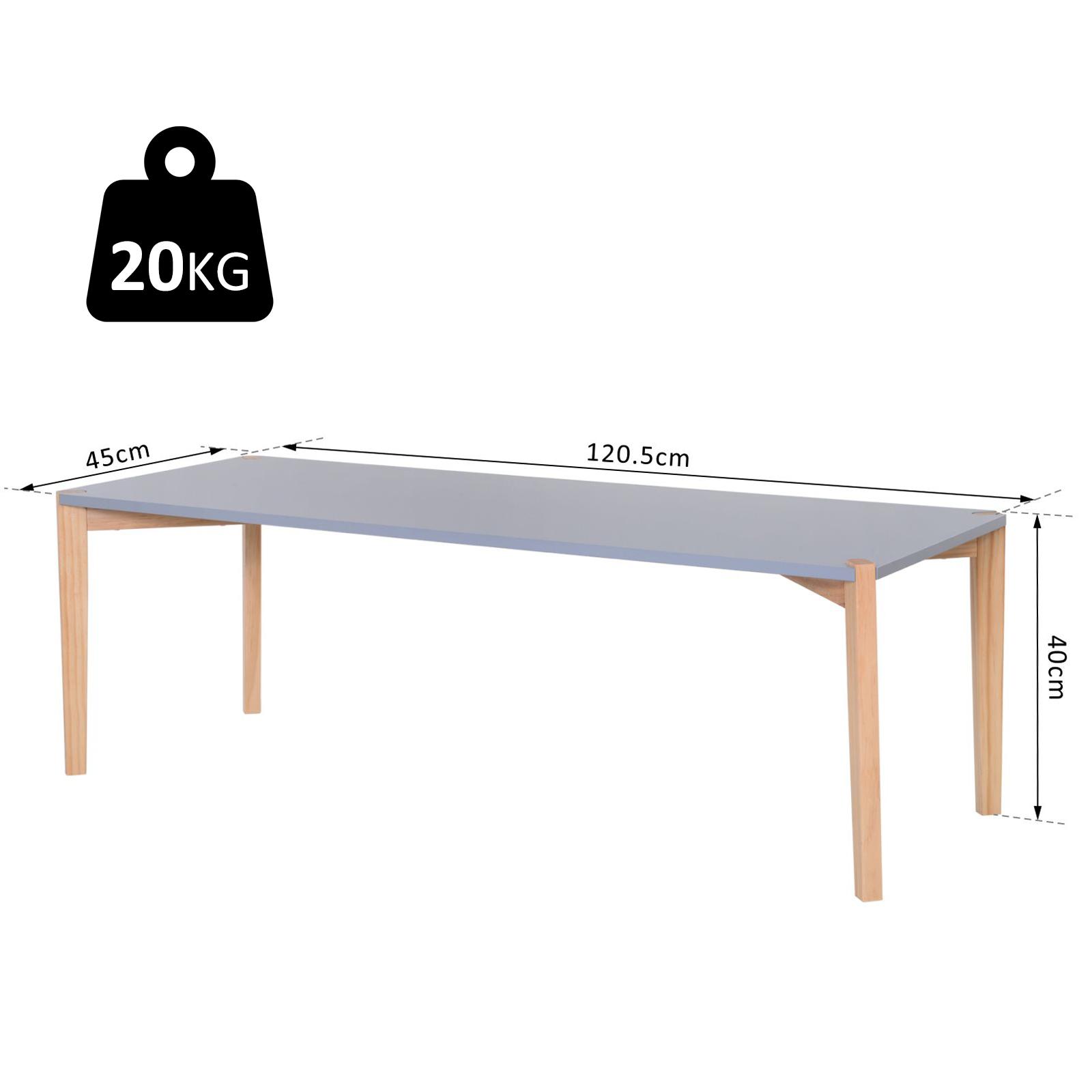 Modern Style Rectangular Living Room Coffee Table Solid Wood Legs – 120cm