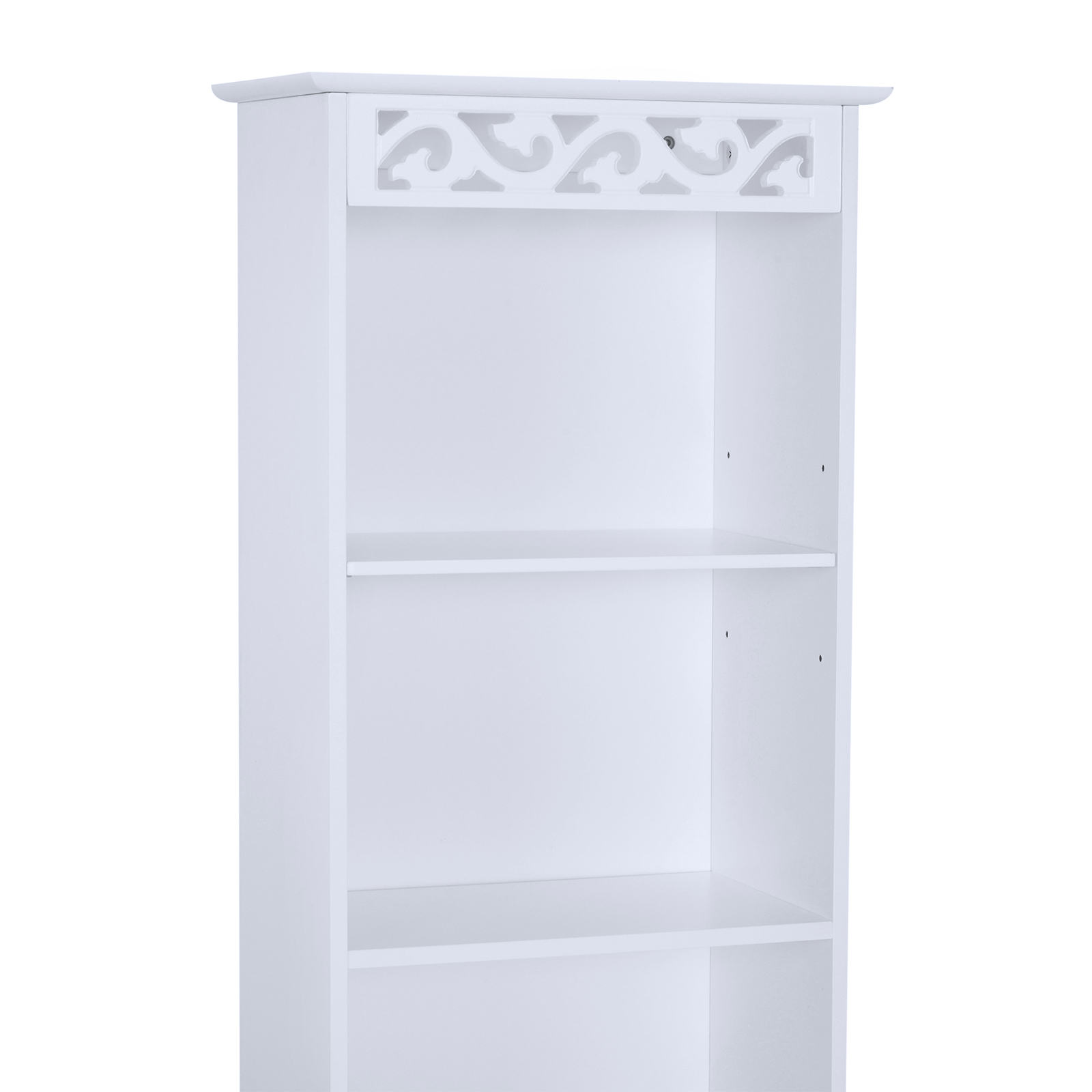 Bathroom-Cabinet-Corner-Shelf-Unit-Drawers-Tower-Cupboard-Wood-Storage-White thumbnail 18