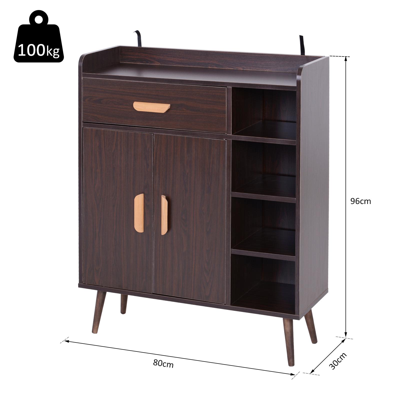 thumbnail 3 - Side-Cabinet-Hallway-Storage-Unit-Console-Table-Entrance-Shelf-Cupboard-2-color