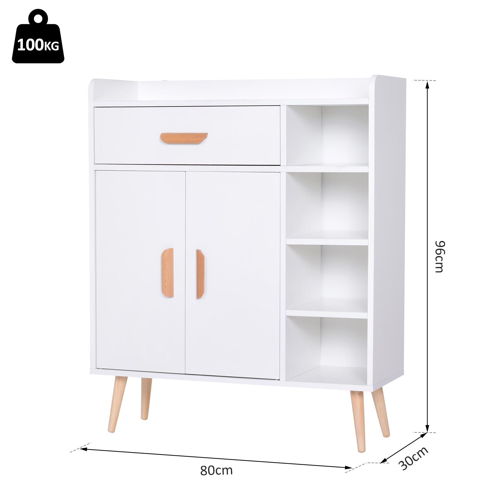 thumbnail 11 - Side-Cabinet-Hallway-Storage-Unit-Console-Table-Entrance-Shelf-Cupboard-2-color