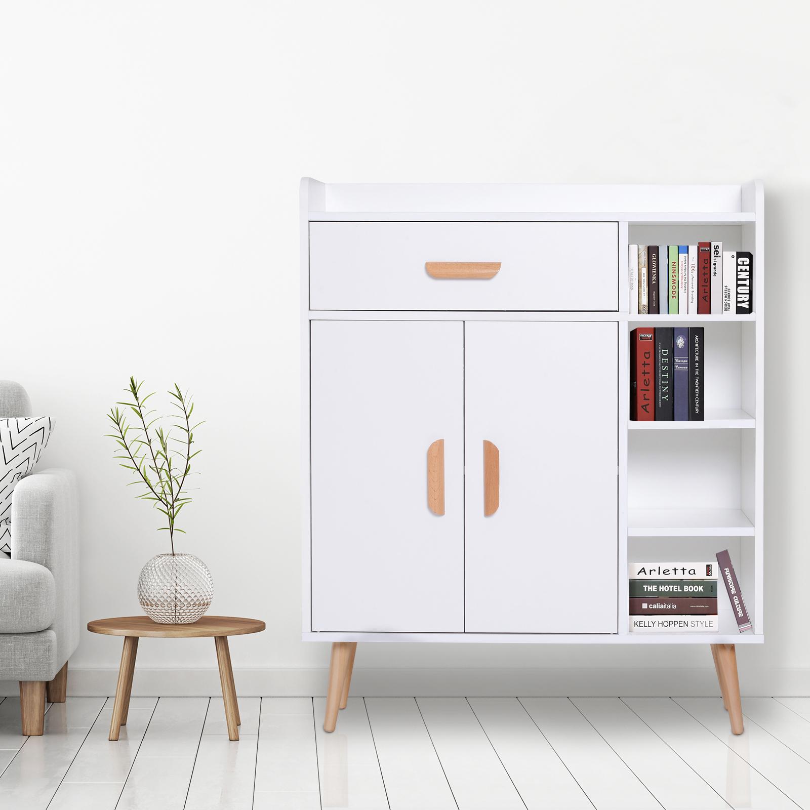 thumbnail 15 - Side-Cabinet-Hallway-Storage-Unit-Console-Table-Entrance-Shelf-Cupboard-2-color