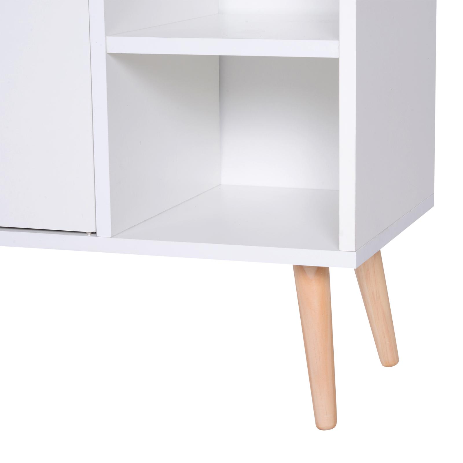 thumbnail 12 - Side-Cabinet-Hallway-Storage-Unit-Console-Table-Entrance-Shelf-Cupboard-2-color