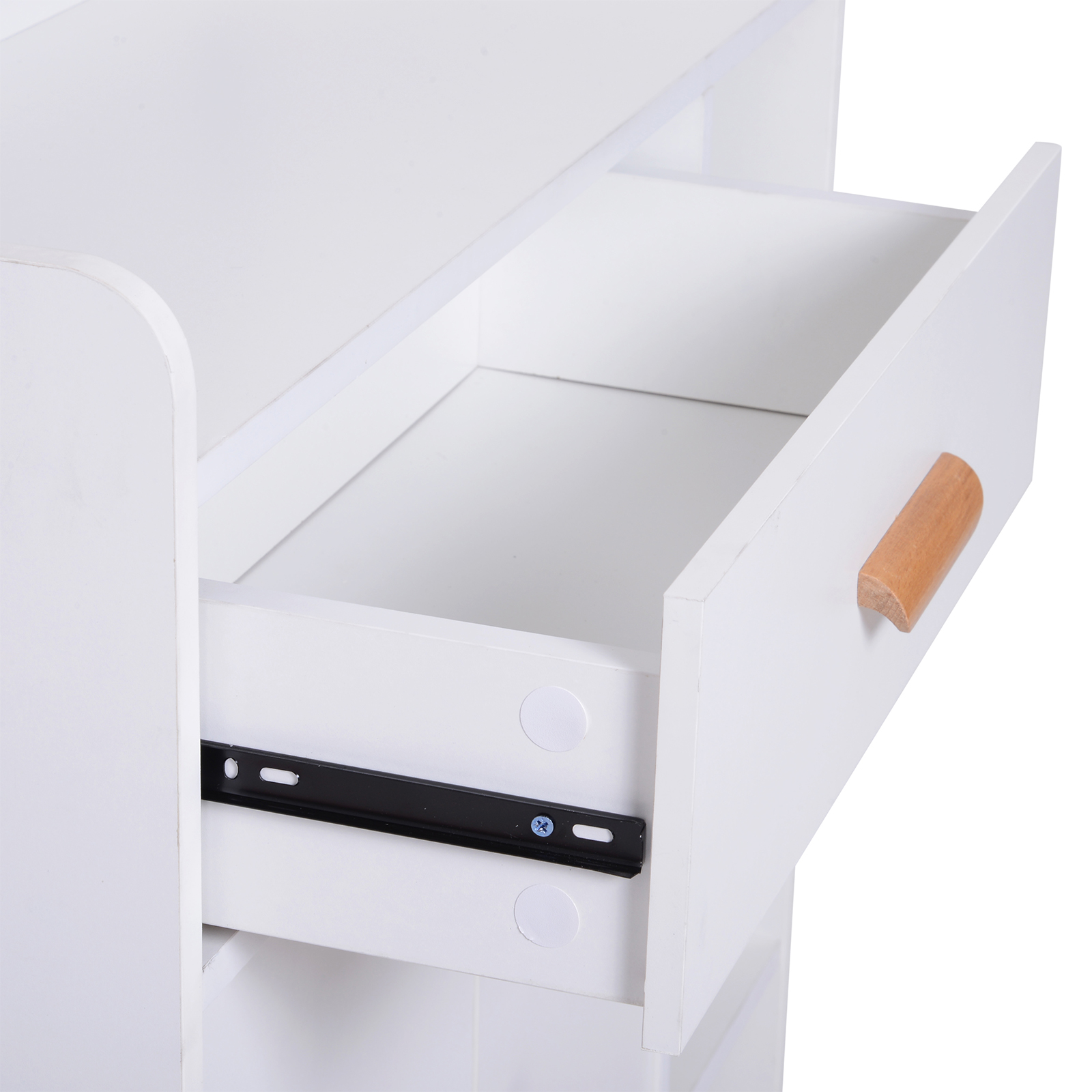 thumbnail 16 - Side-Cabinet-Hallway-Storage-Unit-Console-Table-Entrance-Shelf-Cupboard-2-color