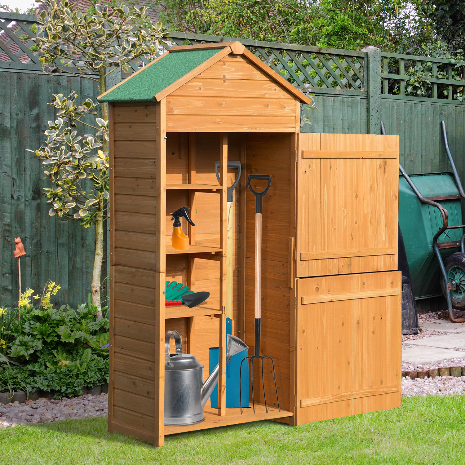 shed sheds shire dyas wooden garden veranda with casita robert