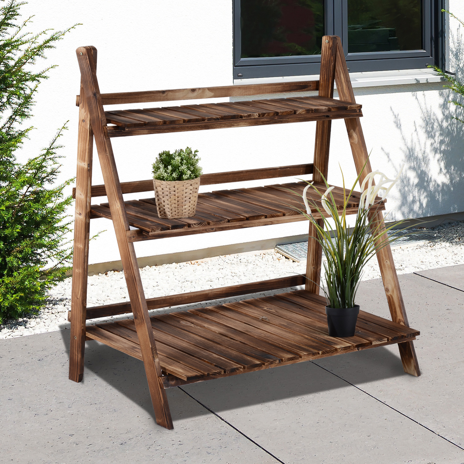 High Quality 3 Tier Flower Plant Pot Shelf Stand Display