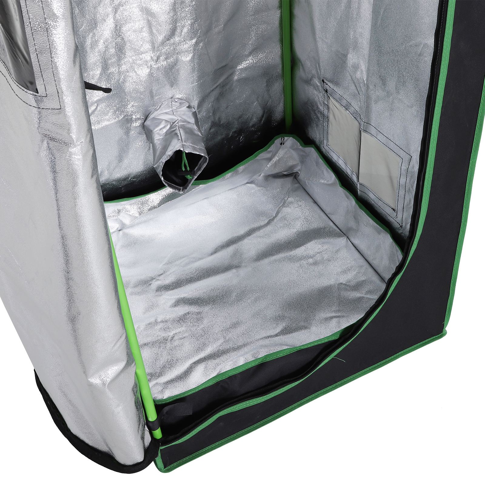 Hydroponic-Plant-Grow-Tent-Indoor-Obeservation-Window-Floor-Tray-Steel-Pole-600D thumbnail 23