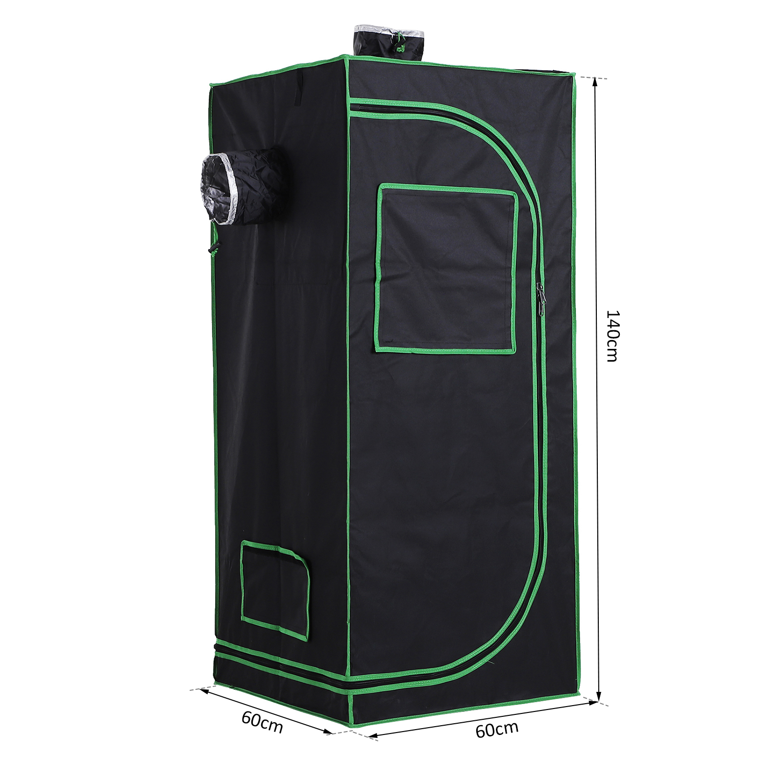 Hydroponic-Plant-Grow-Tent-Indoor-Obeservation-Window-Floor-Tray-Steel-Pole-600D thumbnail 14