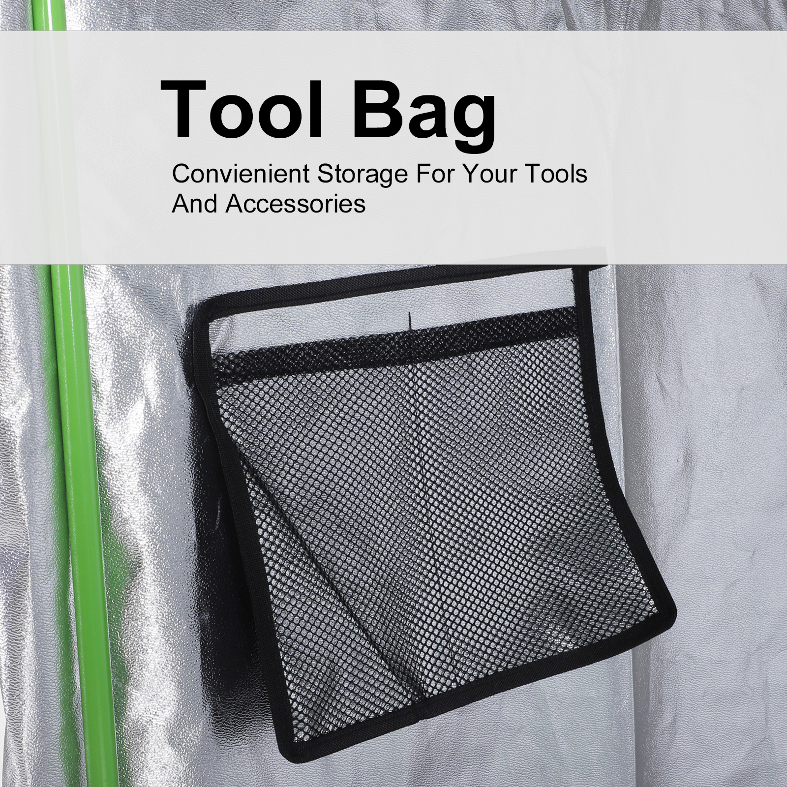 Hydroponic-Plant-Grow-Tent-Indoor-Obeservation-Window-Floor-Tray-Steel-Pole-600D thumbnail 28