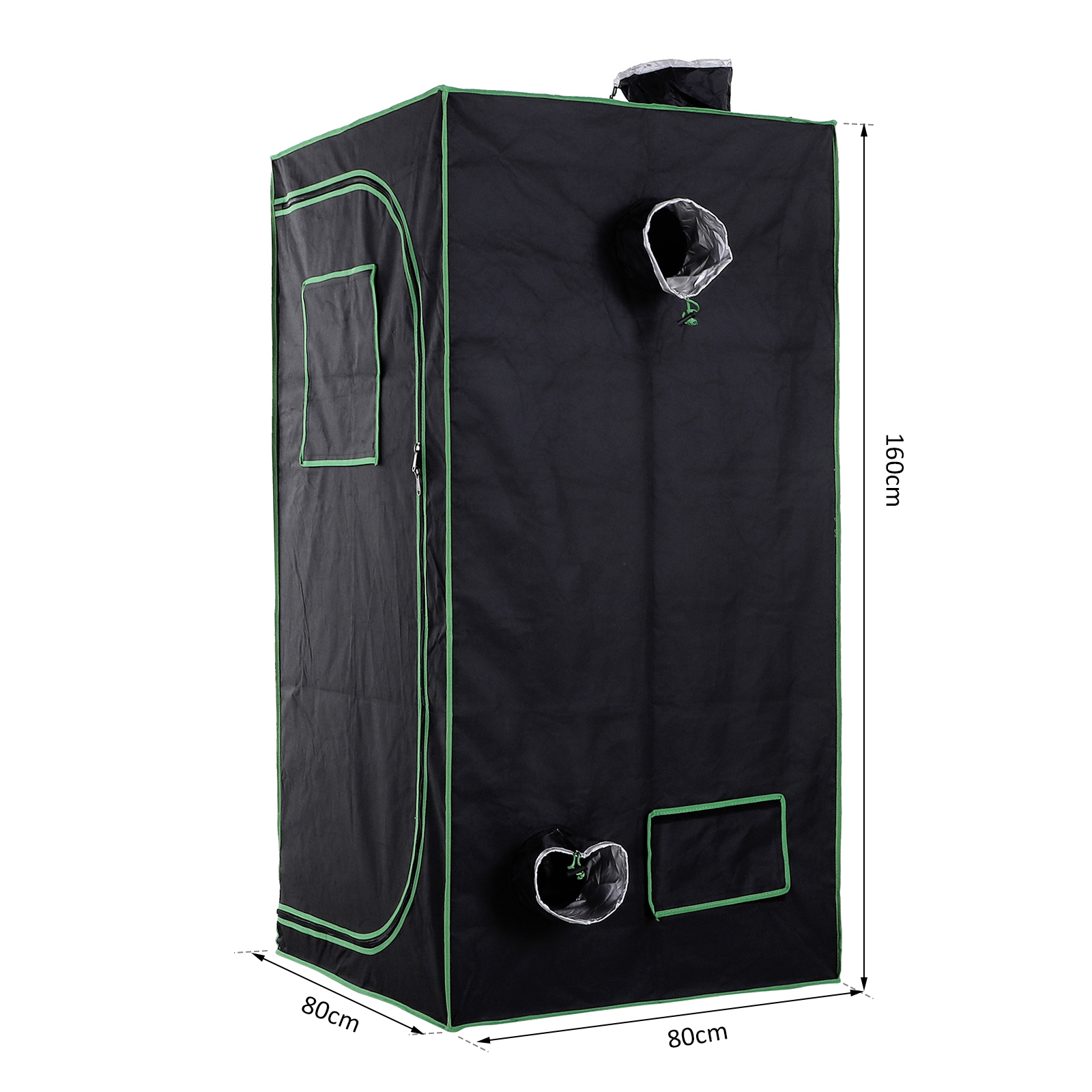 Hydroponic-Plant-Grow-Tent-Indoor-Obeservation-Window-Floor-Tray-Steel-Pole-600D thumbnail 25