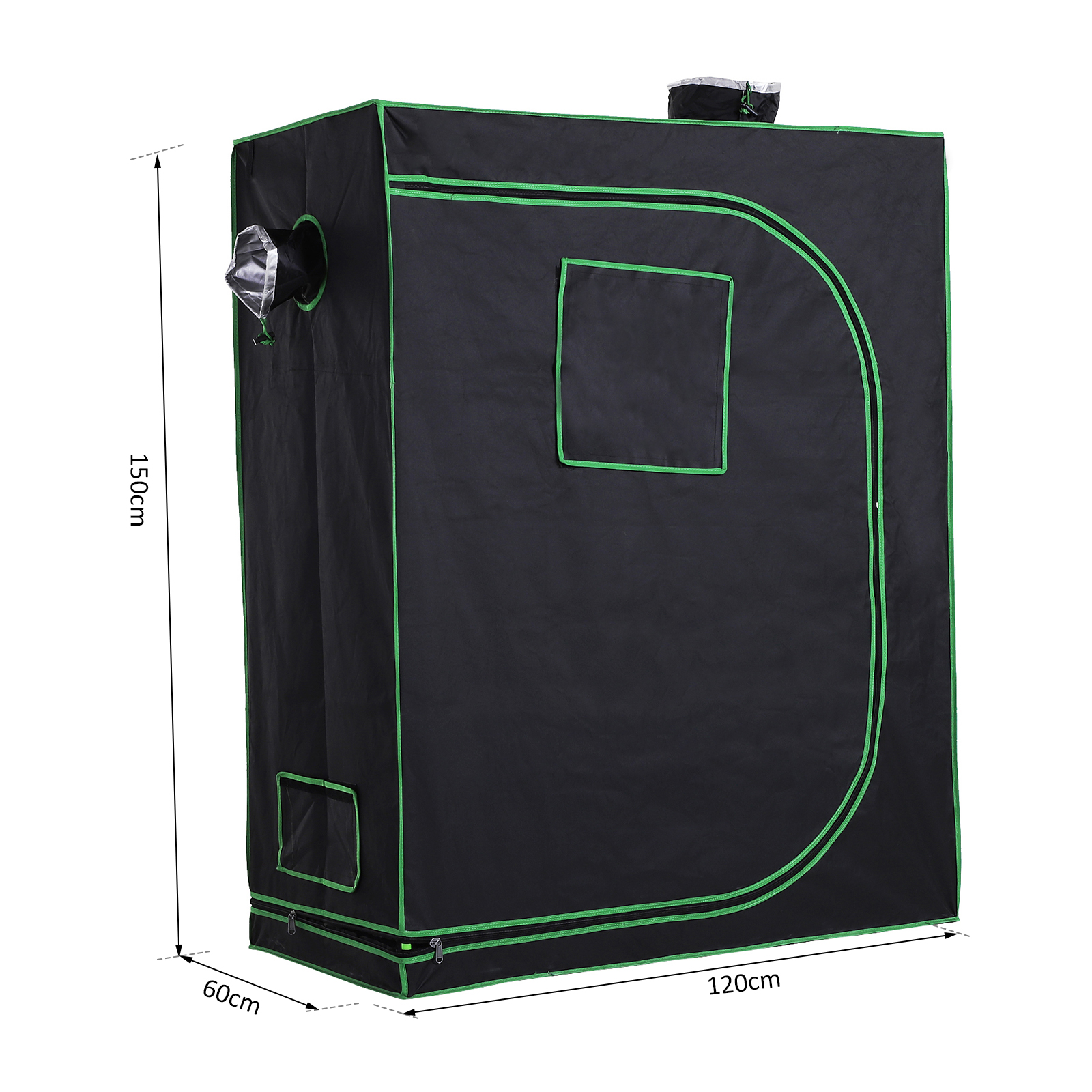 Hydroponic-Plant-Grow-Tent-Indoor-Obeservation-Window-Floor-Tray-Steel-Pole-600D thumbnail 3