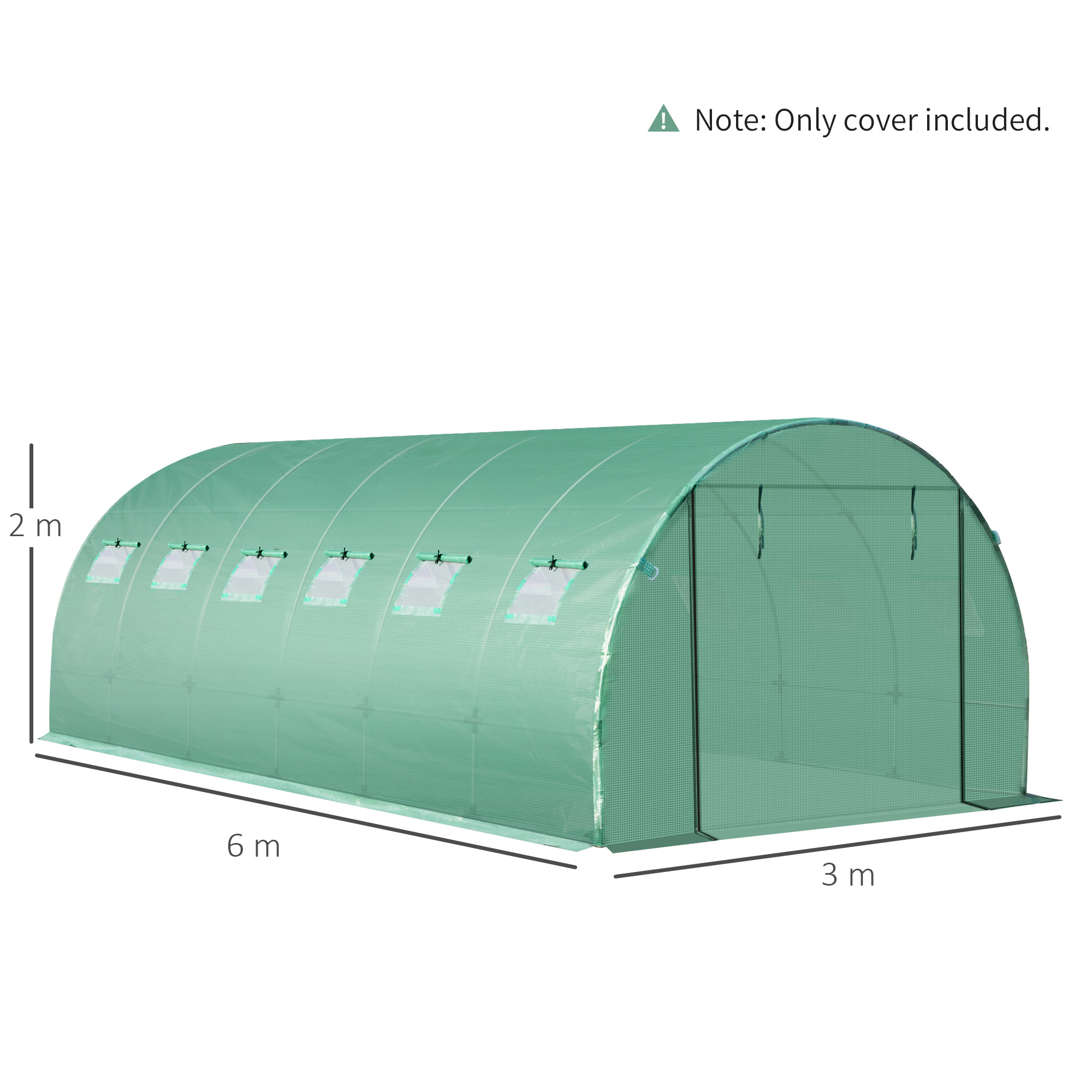 Indexbild 19 - Greenhouse-Replacement-Cover-ONLY-for-Tunnel-Walk-in-Greenhouse