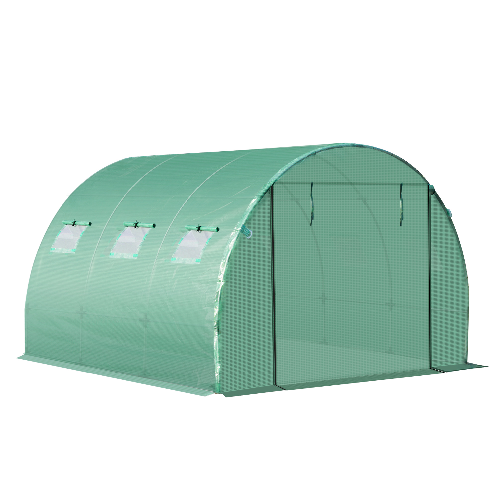 Indexbild 15 - Greenhouse-Replacement-Cover-ONLY-for-Tunnel-Walk-in-Greenhouse
