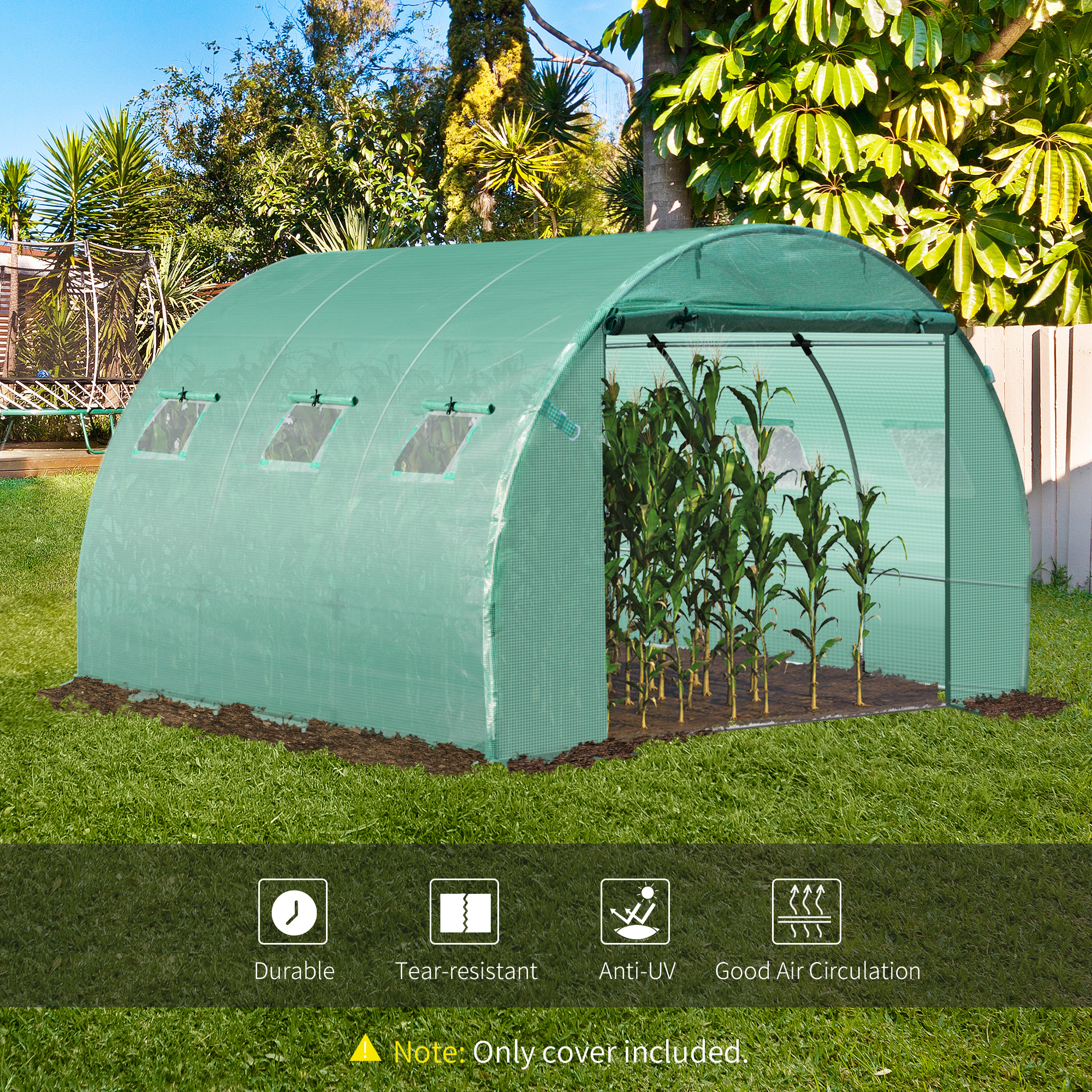 Indexbild 13 - Greenhouse-Replacement-Cover-ONLY-for-Tunnel-Walk-in-Greenhouse