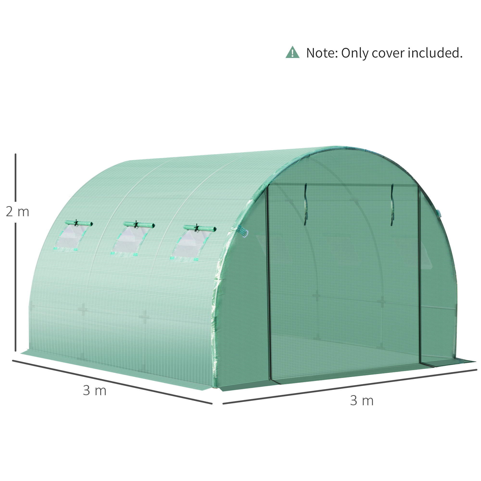 Indexbild 11 - Greenhouse-Replacement-Cover-ONLY-for-Tunnel-Walk-in-Greenhouse