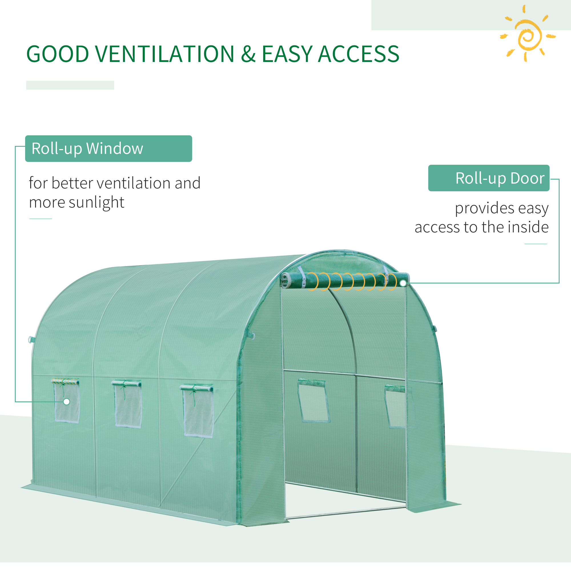 Indexbild 4 - Greenhouse-Replacement-Cover-ONLY-for-Tunnel-Walk-in-Greenhouse