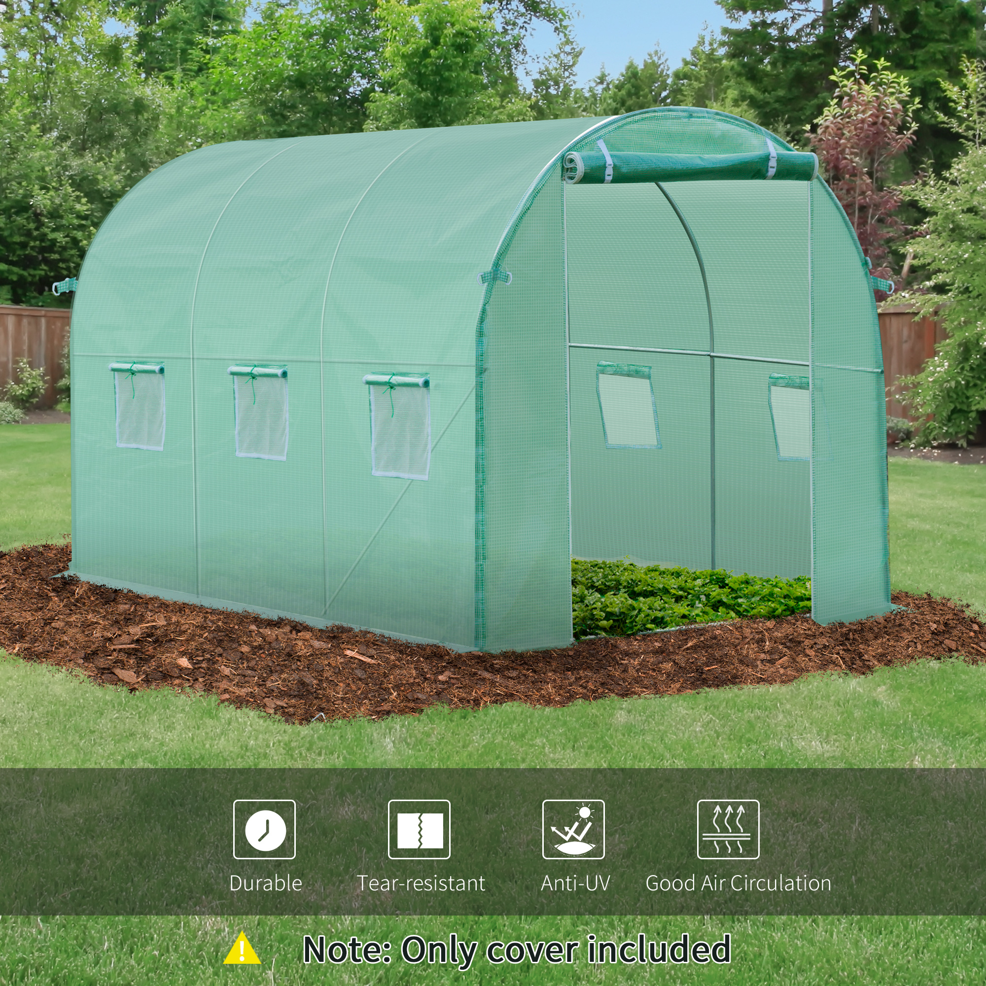 Indexbild 5 - Greenhouse-Replacement-Cover-ONLY-for-Tunnel-Walk-in-Greenhouse