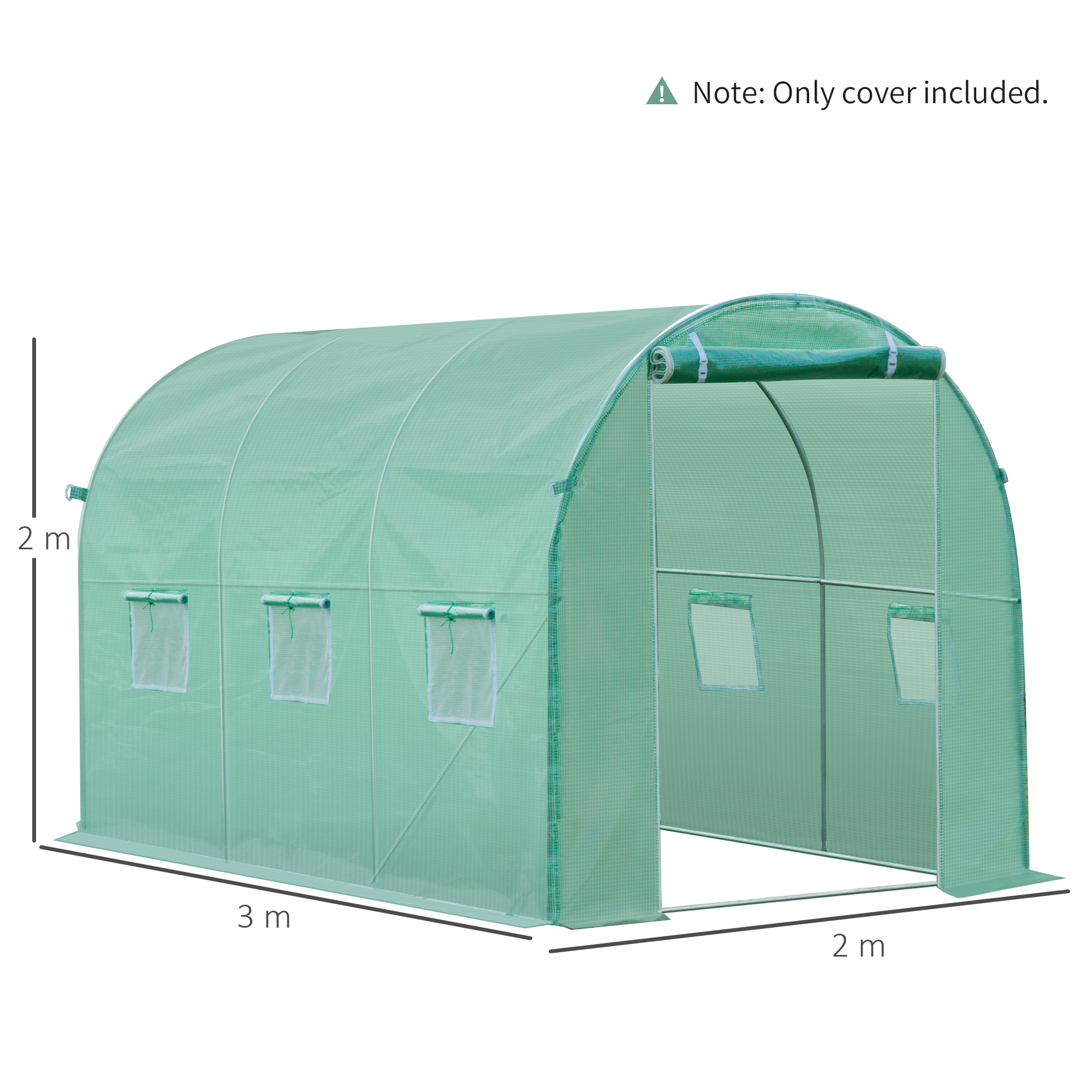 Indexbild 3 - Greenhouse-Replacement-Cover-ONLY-for-Tunnel-Walk-in-Greenhouse