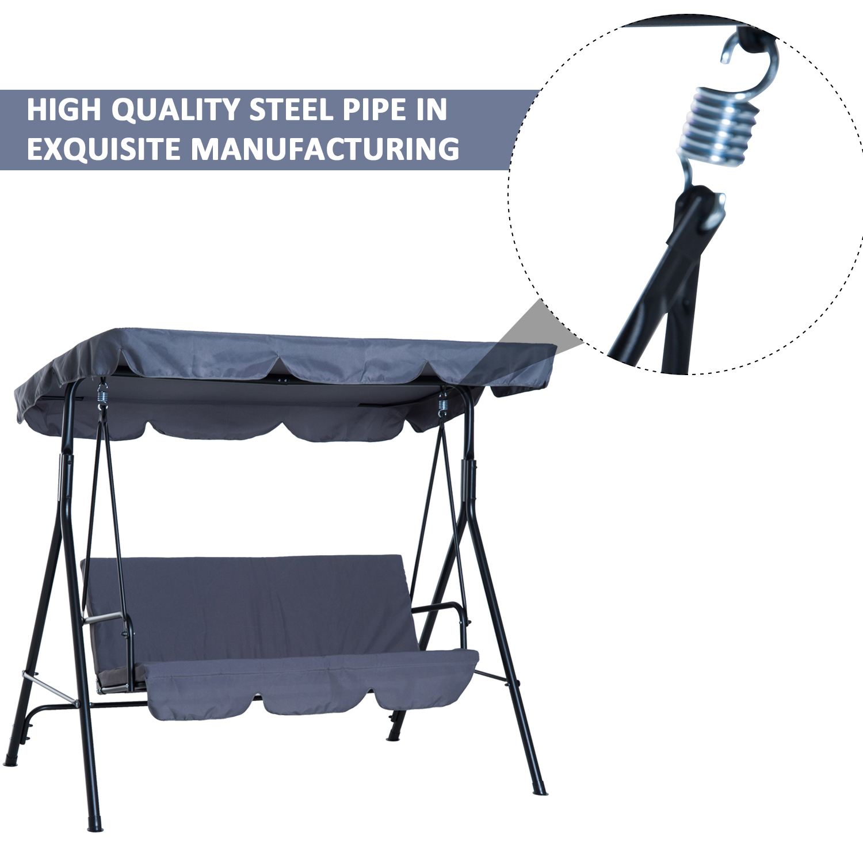 Garden-Hammock-Swing-Chair-Backyard-3-Seater-Adjustable-Canopy-Patio-Outdoor thumbnail 28