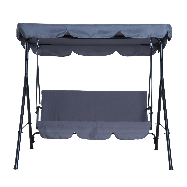 Garden-Hammock-Swing-Chair-Backyard-3-Seater-Adjustable-Canopy-Patio-Outdoor thumbnail 30