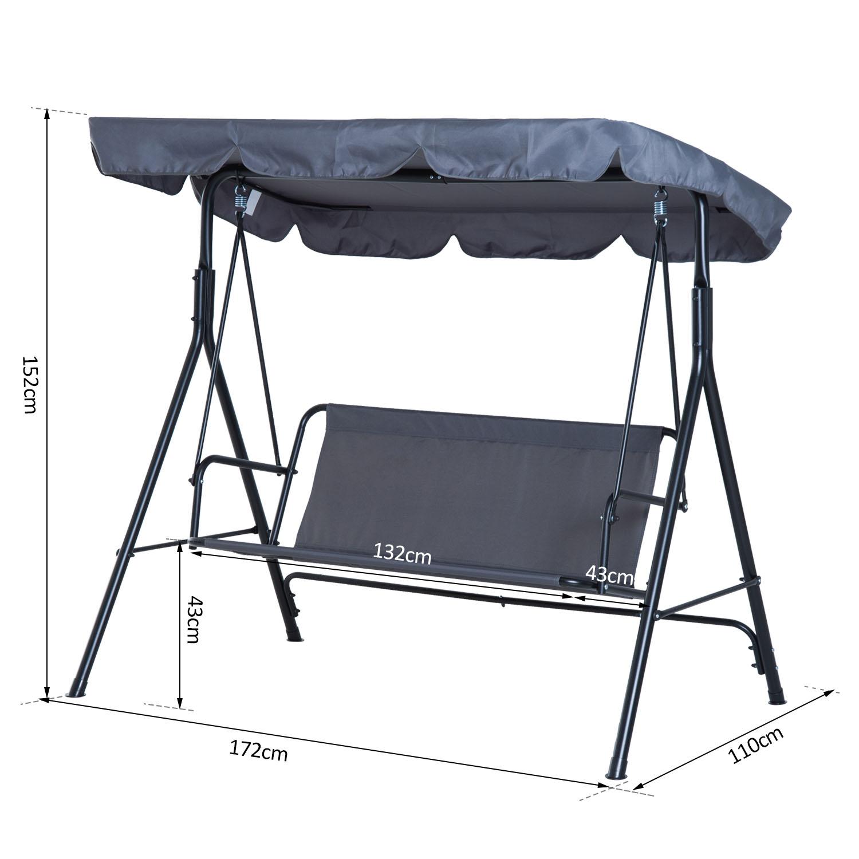 Garden-Hammock-Swing-Chair-Backyard-3-Seater-Adjustable-Canopy-Patio-Outdoor thumbnail 27