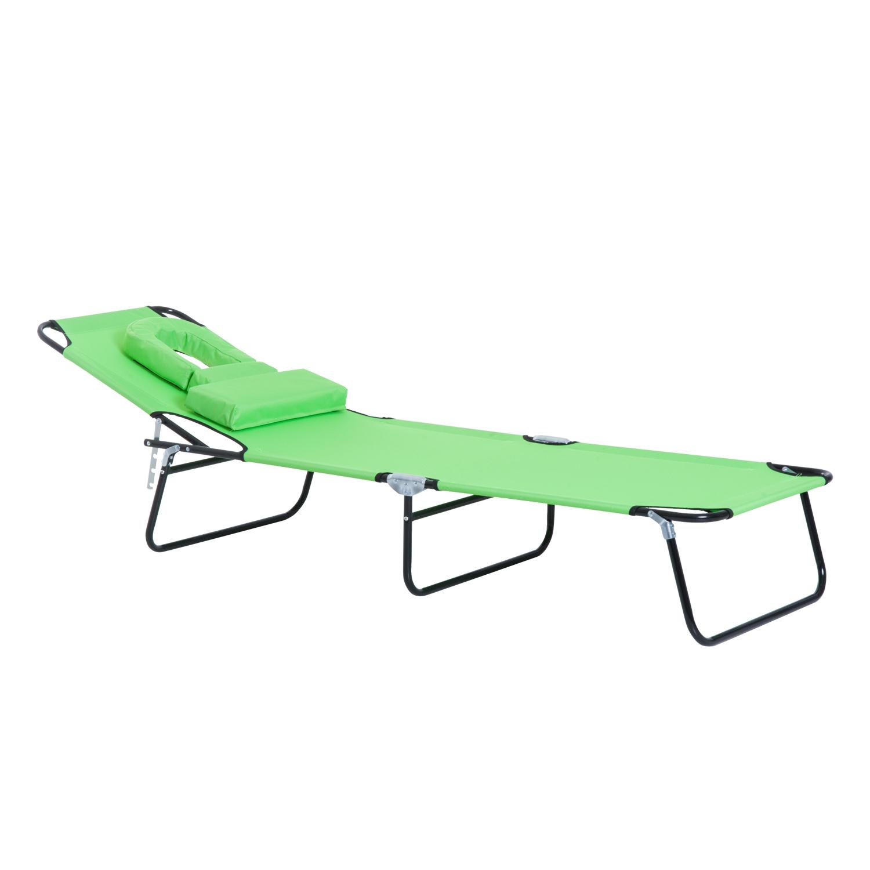 miniatura 26 - Silla Reclinable Plegable Tumbona Reclinable Jardín Al Aire Libre Portátil Asiento Cama